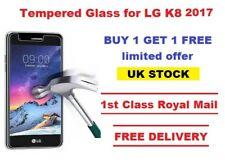 100% Genuine LG K8 2017 Tempered Glass Screen Protector 9H Hardness Film 2 pack