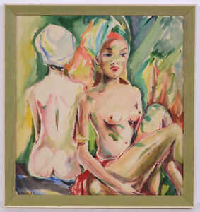 """Hedi Schick (1906-1999) """"After the bath"""", watercolor, 1930s"""
