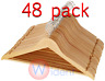 48 Wooden Wood Hangers Solid Wood Clothes Coat Suit Dress Pant Skirt