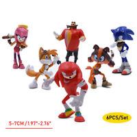 2020 Sonic the Hedgehog 6pcs Action Figure Set Kids PVC Toy Game Fan Gift