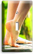 BARE FEET SOLES SEXY LEGS LIGHT SWITCH 1 GANG PLATE BATHROOM ROOM HOME ART DECOR