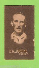 1930s  ALLEN'S STEAM ROLLERS  CRICKET CARD  D.R. JARDINE, SURREY