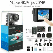 New AKASO V50 Elite 4K60fps Touch Screen WiFi Action Camera Voice Control EIS US