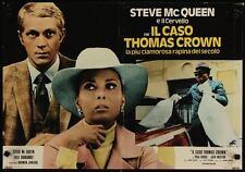 THOMAS CROWN AFFAIR Italian fotobusta photobusta movie poster 4 STEVE McQUEEN 73