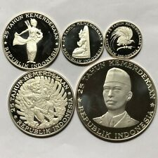 Indonesia 1970 Proof Set Silver 5 Coins