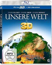 UNSERE WELT (Blu-ray 3D + 2D-Version) NEU