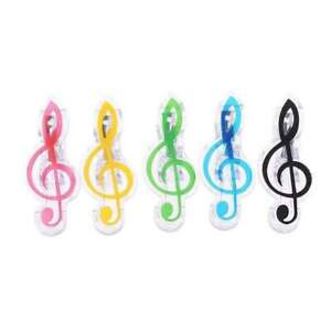 G Clef / Treble Clef Clip - Assorted Colours