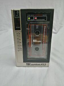 Vintage TEC Soundman  AFX5 Stereo Radio/Cassette Player