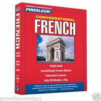 New 8 CD Pimsleur Learn to Speak Conversational French Language (16 Lessons)