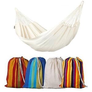200x100cm Hammock Garden Camping folding outdoor Rope Hammocks Cotton 3 Colour