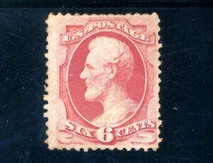 USAstamps Unused FVF US 1870 Bank Note Lincoln Scott 137 OG MHR Grilled