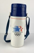 Aladdin Olympics Thermos White 1984 Los Angeles California XXIII USA Eagle Flag