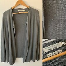 Ladies SEASALT Grey Waffle Knit Open Front Cardigan Size 12~ 100% Cotton