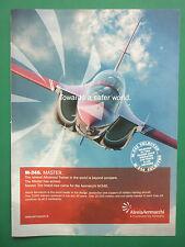 11/2009 PUB AVION AERMACCHI M-346 JET TRAINER AERONAUTICA MILITARE ORIGINAL AD
