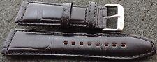 RUSSIAN  POLJOT   BLACK  leather  WATCH BAND 22 MM