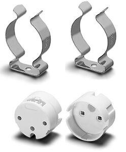 FASSUNGSSET 2 Fassungen G13 + 2 Lampenhalter TL-D 26mm für Leuchtstofflampen