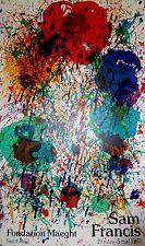 Sam Francis affiche lithographie originale art abstrait abstraction lyrique