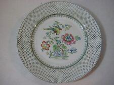"Vintage Ashworth Bros Hanley Paysley Green Chintz Dinner Plate, 10 1/4"" (Rare)"