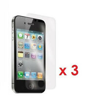 3 x New Crystal Clear Screen Protector for Apple iPhone 4 /4S