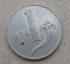 1 LIRA CORNUCOPIA REPUBBLICA ITALIANA ROMA 1954 - nr. 576