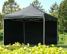 3x3 m Black Outdoor POPUP Folding Tent Gazebo Marquee + EXTRAS