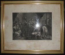 1769-BELLISSIMA NATIVITA' CON CORNICE-MADONNA-CARRACCI-CUNEGO-RARA INCISIONE