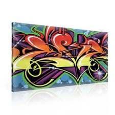 Deko-Bilder aus Leinwand mit Graffiti-Motiv