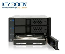 "New ICY Dock MB973SP-1B ( Tray-Less ) 3 bay 3.5"" SATA SAS HDD Mobile Rack"