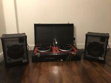 More details for vinyl lp console dj decks fal ranger mobile disco turntables 80s record player