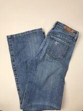 Sevens 7 Girls Size 12 Light Wash S Pink Rhinestone Pockets