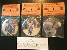 Vintage Hockey Wayne Gretzky Early 80s Pinback Buttons (3)Sports Prism Inc. NEW