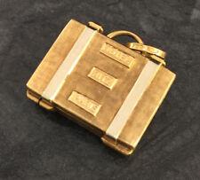 Goldanhänger Koffer Reisekoffer mit Koralle innen Anhänger 750er Gold Hotel Ritz