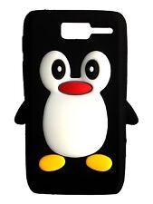 Silicone Nero Pinguino Custodia Per Telefono/Cover Motorola RAZR D1 XT916 XT918