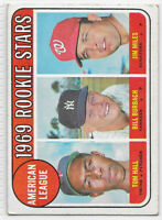 1969 TOPPS #658 AL ROOKIE STARS TOM HALL BILL BURBACH JIM MILES MLB BASEBALL