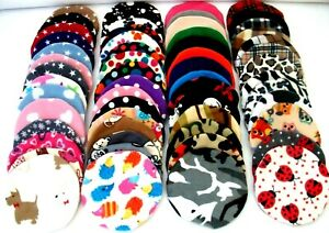 """**50 DESIGNS **9"""" SNUGGLESAFE *HEAT PAD COVER REPLACEMENT FLEECE GUINEA PIG BED"""