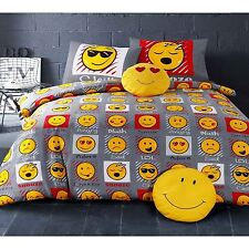 EMOJI EXPRESSIONS SET HOUSSE DE COUETTE SIMPLE COUETTE VISAGE SMILEY LITERIE