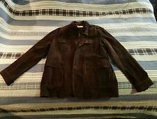 Perry Ellis Brown Suede Jacket RN 37763 P.O. PS22950 Excellent Condition