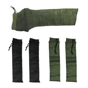 2x Green + 2x Black Gun Sock Handgun Pistol Storage Sleeve Cover Tactical Bags