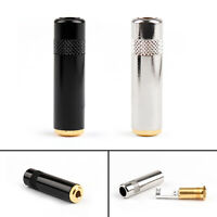 3.5mm Stereo Female Jack Audio Connector Gold Plated Coupler For Headphone