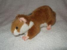 "Hansa 1999 plush 7"" long Crouching Hamster NEW stuffed"