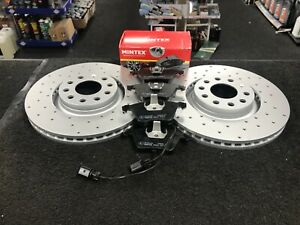 AUDI A4 B7 2.0TFSI QUATTRO SPECIAL EDITION FRONT BRAKE DISCS PADS CROSS DRILLED