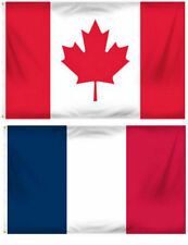 2x3 2'x3' Wholesale Combo France French & Canada Canadian Flag Banner Grommets