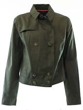 NWT - Tommy Hilfiger Olive Double Breasted Jacket - Size 4
