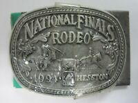 Small National Finals Rodeo Hesston 2007 Youth NFR Cowboy Buckle New Wrangler