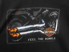 vtg Harley Davidson Motorcycles T-Shirt Thunderbird Albuquerque black cotton 3XL