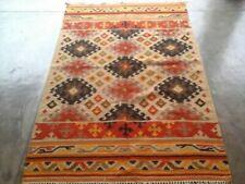 Hand Woven Wool Rug Traditional Kilim Dhurrie Afghan Oriental Area Rug 5'6X8 ft