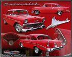 Vintage Replica Tin Metal Sign Chevy Chevrolet Emblem Logo 1956 Gm Parts 98313
