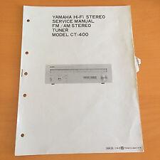 Yamaha CT-400 Tuner Repair Service Manual & Schematics Factory Original! Rare