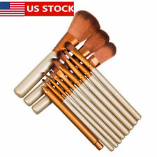 12pcs Makeup Brush Cosmetic Eyeshadow Foundation Eyebrow Lip Blush Brush US