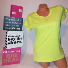 Champion T-Shirt Small Neon Yellow Work Out Short Sleeve Due Dry